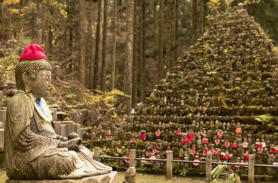 jizos japon koyasan cementerio