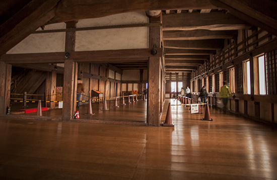 interior castillo de Himeji japon