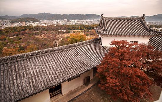 vistas desde el castillo de Himeji