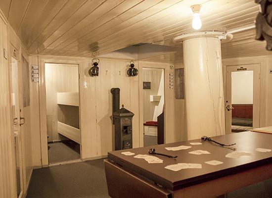 interior del barco Fram museo Noruega Oslo