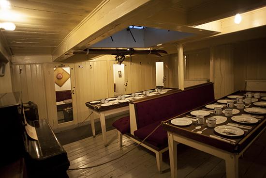 comedor barco Fram museo Oslo