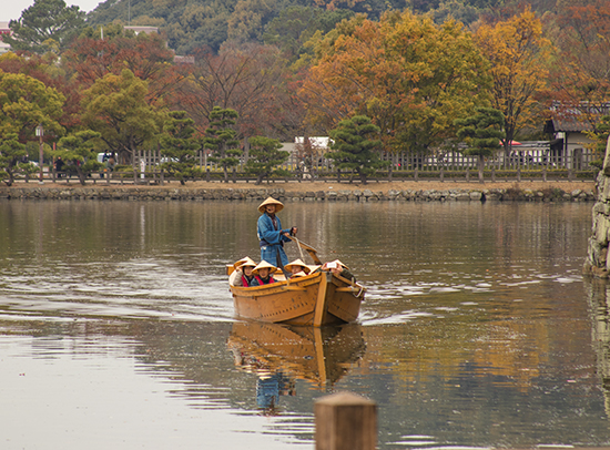 tour fluvial castillo de Himeji