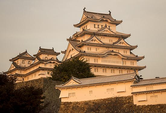 castillo Himeji al atardecer