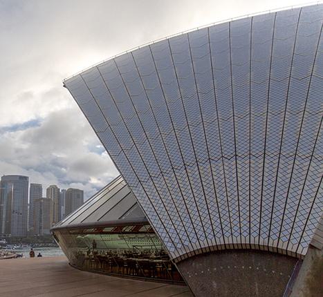 detalle cubierta Opera House Australia