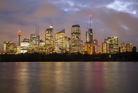CBD Sydney de noche