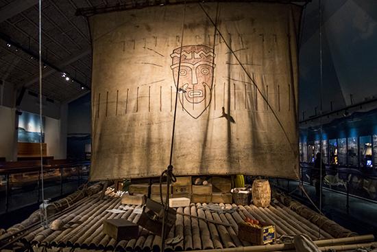 vela balsa kontiki Noruega museos