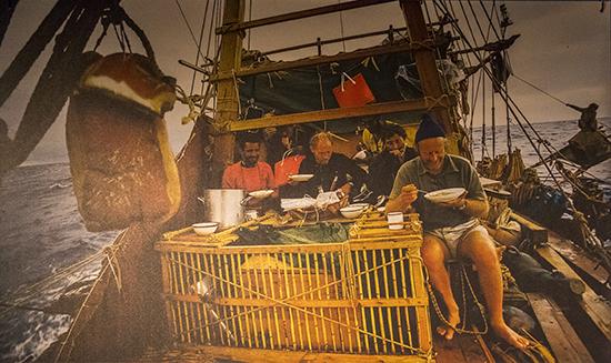 foto de la vida a bordo de la Kontiki
