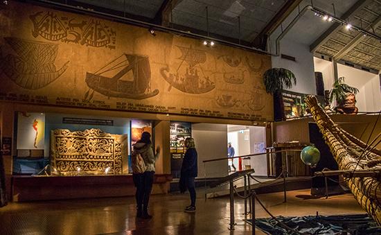 interior museo Kontiki Oslo Noruega