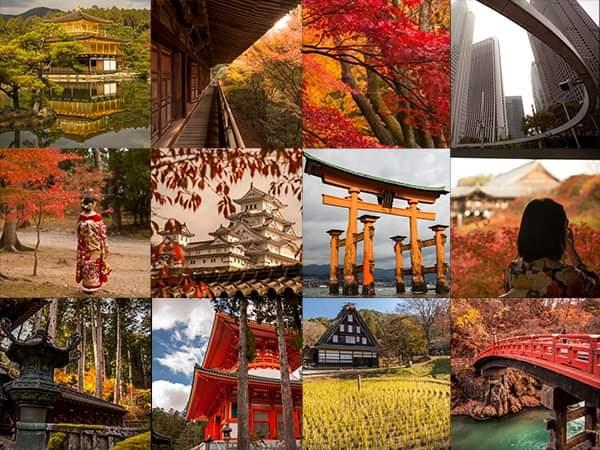 collage japon otoño