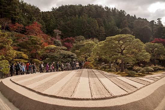 jardin zen templo de plata kioto