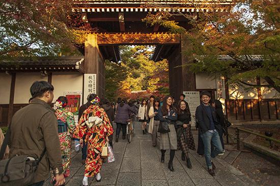 kioto en noviembre eikando temple