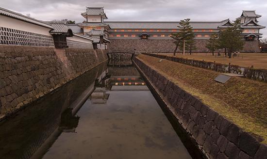 castillo kanazawa foso