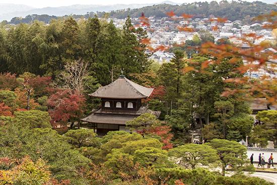 vistas de kioto desde templo de plata