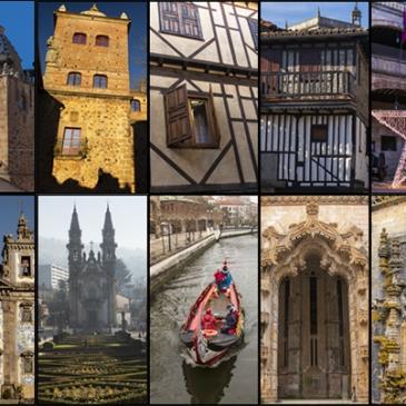collage roadtrip España Portugal