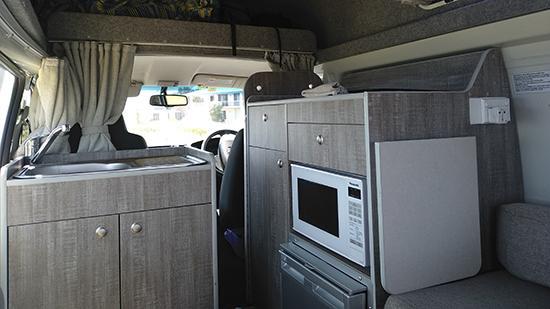 camper van Toyota hiace hitop interior