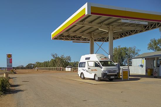 Gasolinera en Hamelin Pool WA