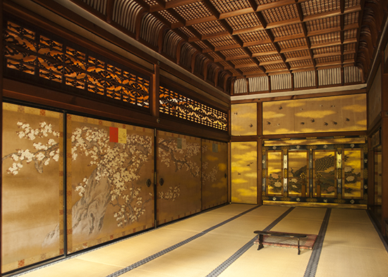 decoracion salas templos kioto