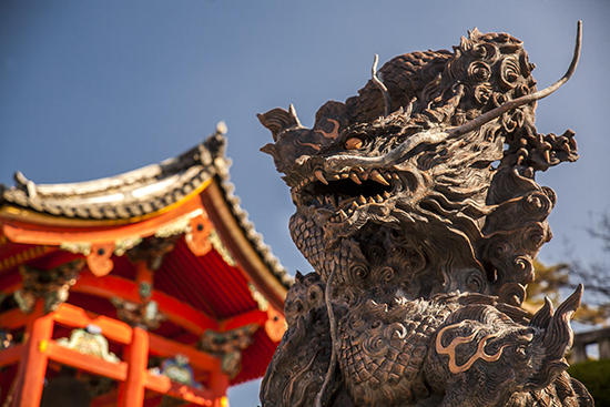 Dragon en templo kioto