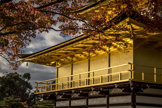 otoño en el templo dorado kioto