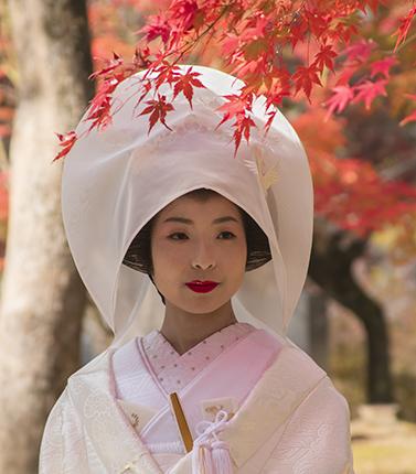 boda sintoista kioto retrato noviembre