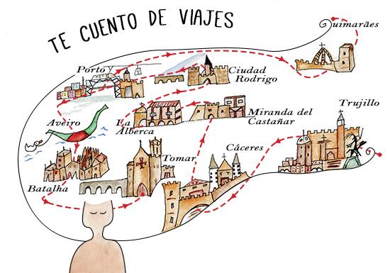 ilustraciones de viajes acuarela Te cuento de viajes