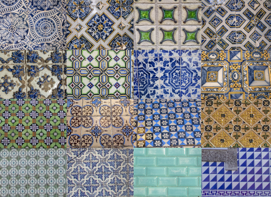 azulejos portugueses collage