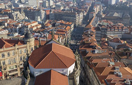 Vistas desde la torre de los clérigos Oporto