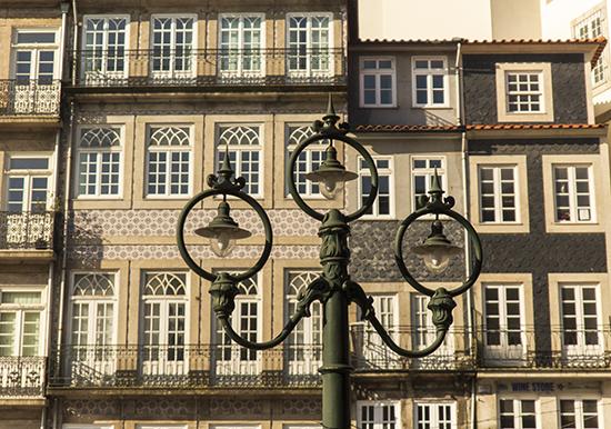 Casa típicas paseo de Ribeira. Oporto