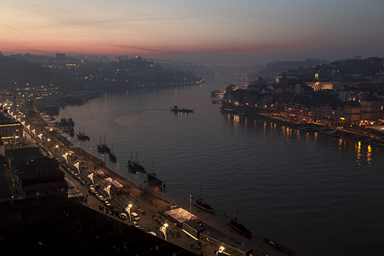 Atardecer en Rio Douro desde Mirador del Jardiin del Morro