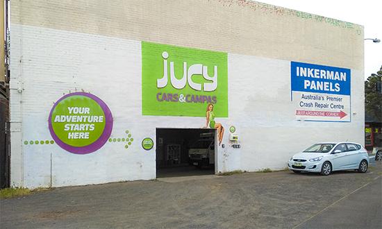 branch jucy cars & campas en Melbourne