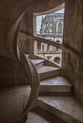 Escalera helicoidal. Convento de Cristo