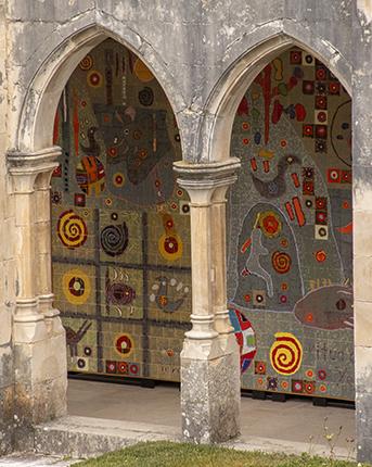 mural de azulejos monasterio Batalha