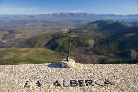 Vista de La Alberca desde la Peña de Francia