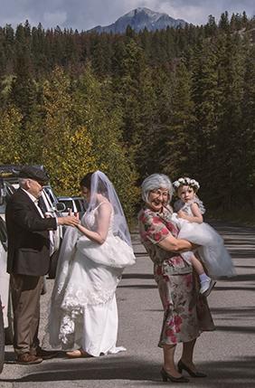 boda en Jasper Canadá