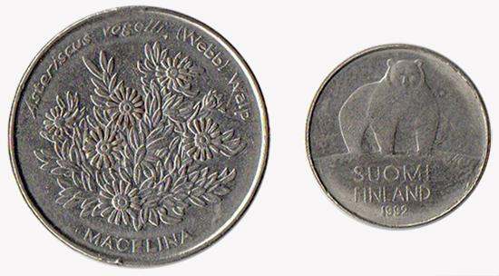 flora y fauna monedas viajes
