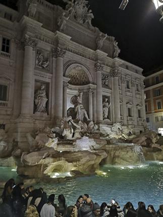 Fontana di tevi Roma