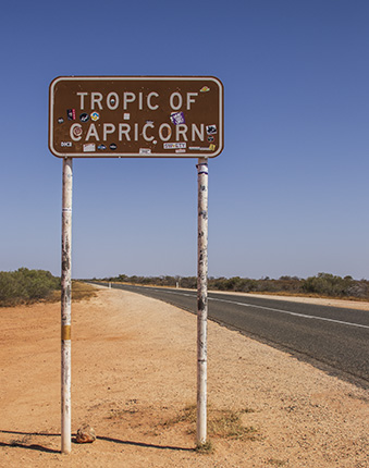 señal Trópico de Capricornio