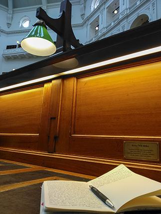 Detalles interior State Library Victoria, Melbourne.