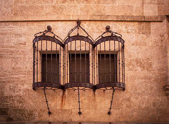 fachadas y rejas en Ciudad Rodrigo, Salamanca