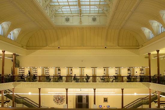 Interior State Library Victoria Australia
